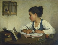 Henriette Browne, A Girl Writing