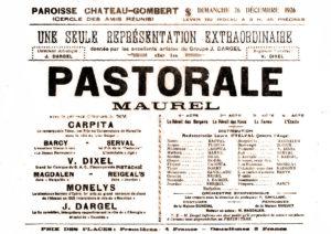 Locandina della pastorale Maurel